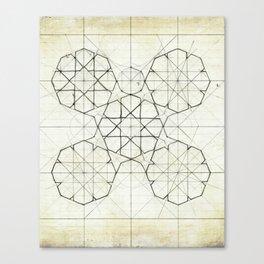 Geometry Sketch Nine Canvas Print