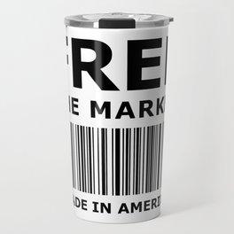 Free The Market Travel Mug