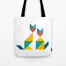 Tangram Cats 1 Tote Bag