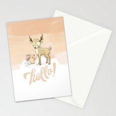 the deer & rabbit Stationery Cards