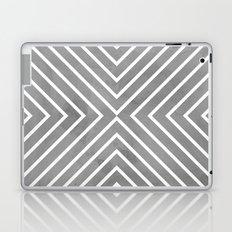 Stripes in Grey Laptop & iPad Skin