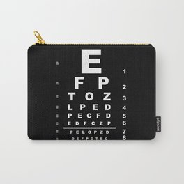 Inverted Eye Test Chart Carry-All Pouch
