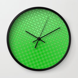 d20 Acid Green Critical Hit Pattern Wall Clock