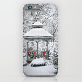 Gazebo in the Snow iPhone Case