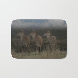Three Red Deer Bath Mat