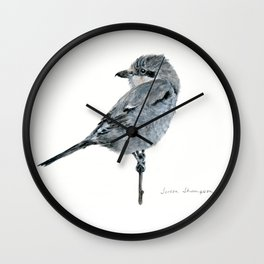 Northern Shrike by Teresa Thompson Wall Clock