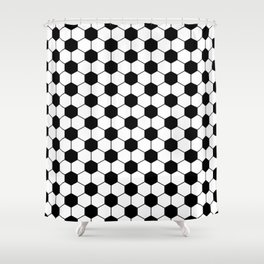 Black and white footbal pattern Shower Curtain