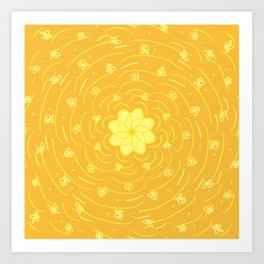 Butterscotch Flower Art Print