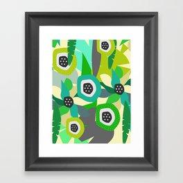 Bright tropical vibe Framed Art Print