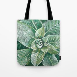Layers of Green - Mullein Herb Plant Painting/Study Tote Bag