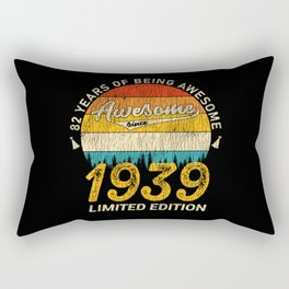 82 Year Old Bday 1939 Awesome Since 82th Birthday Rectangular Pillow