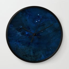 Watercolor NightSky Wall Clock