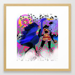 blue heron with mistress Framed Art Print