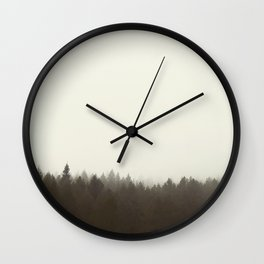 Foggy Trees Wall Clock