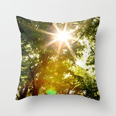 The Sun's Rays Throw Pillow