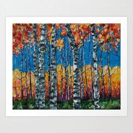Aspen Grove by Lena Owens Art Print
