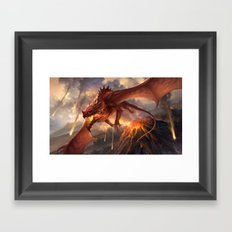 Red Dragon v2 Framed Art Print