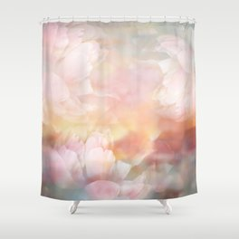 Minty Blue landscape Shower Curtain