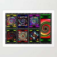 Spin Color Art Print
