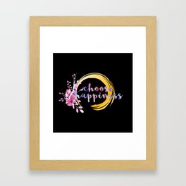 Purple Watercolor Choose Happiness HEISE Framed Art Print