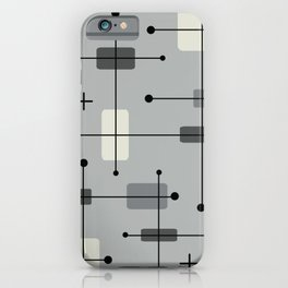 Rounded Rectangles Squares Gray iPhone Case