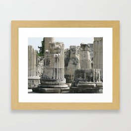 Fluted Ionic Columns - Temple of Apollo, Turkey Framed Art Print