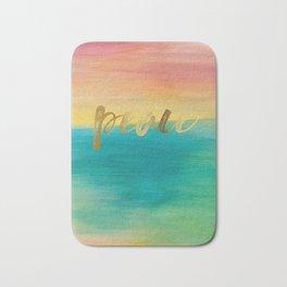 Peace, Ocean Sunset 3 Bath Mat