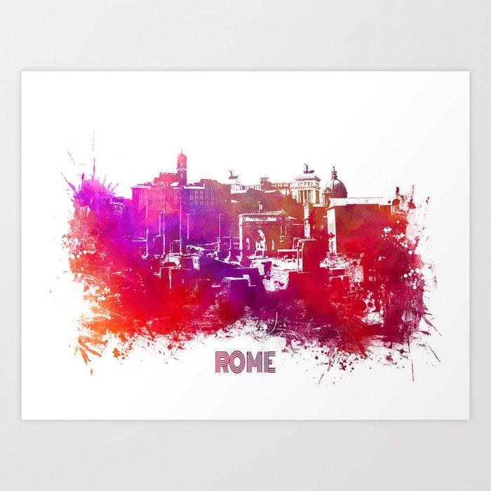 Rome skyline Art Print