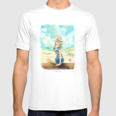 summer time Mens Fitted Tee MEDIUM White