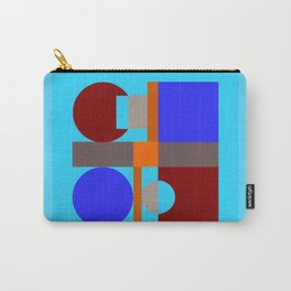 Minimalist geometry with light blue background Carry-All Pouch