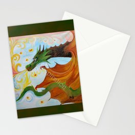 Fire Breathing Dragon Stationery Cards