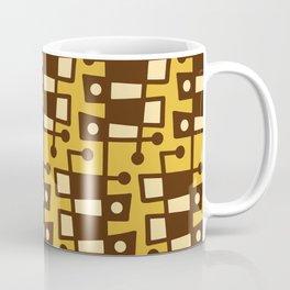 Mid Century Modern Abstract 212 Yellow and Brown Coffee Mug