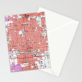 Vintage Ontario California & Surrounding Cities Map (1957) Stationery Cards