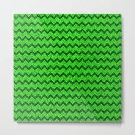Chevron Glitter Pattern 05 Metal Print