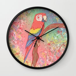Magnificent Little Macaw Wall Clock
