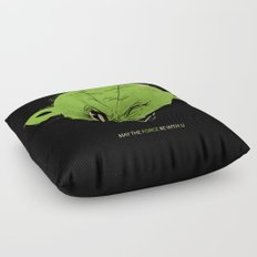 StarWars May the Force be with you (green vers.) Floor Pillow