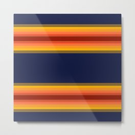 sunshine stripes Metal Print