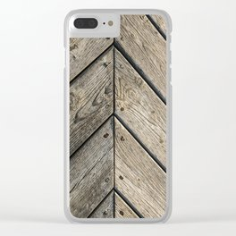 Wooden walk Clear iPhone Case