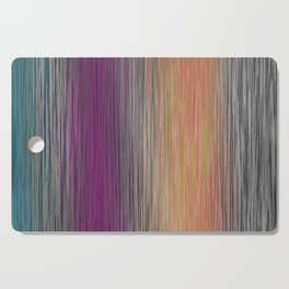 Ombre Blended Dusty Pastel Fiber Lines Cutting Board