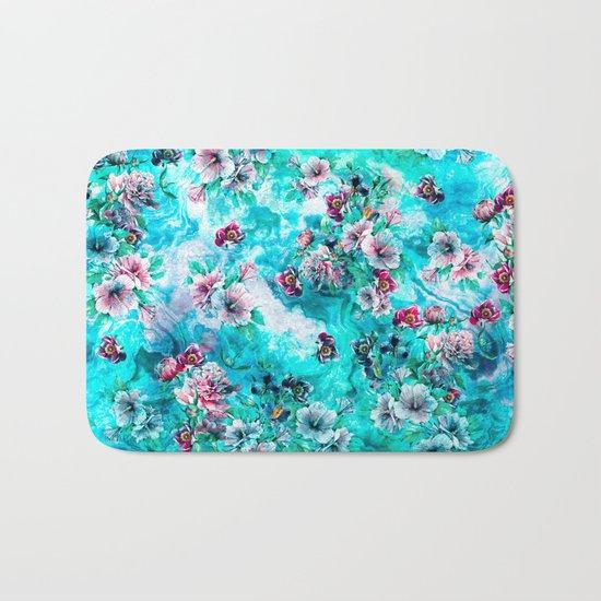 Floral Ocean II Bath Mat