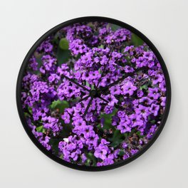 Intriguing Purple Flowers Wall Clock