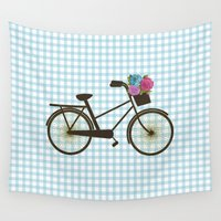 bike Wall Tapestries featuring Bike by Juliana Zimmermann