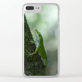 Green Anole Clear iPhone Case