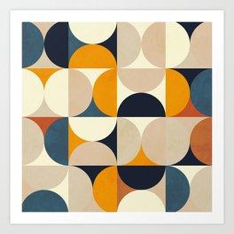 mid century abstract shapes fall winter 1 Art Print