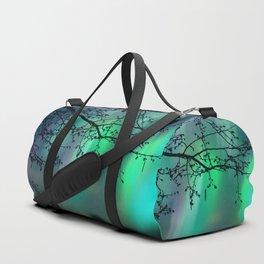 Tree Branch and Aurora Borealis Night Sky Duffle Bag