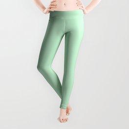Pastel green color clear Leggings