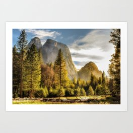 Morning Glow -- View From a Yosemite Meadow Art Print