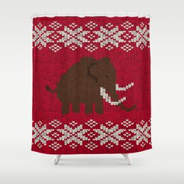 Woolly Woolly Mammoth Shower Curtain