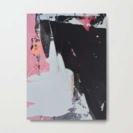 Profoundly [2]: a vibrant abstract piece in blues magenta and orange by Alyssa Hamilton Art Metal Print