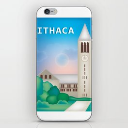 Ithaca, New York - Skyline Illustration by Loose Petals iPhone Skin